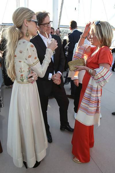 Laura Bailey, Colin Firth and Mariella Frostrup