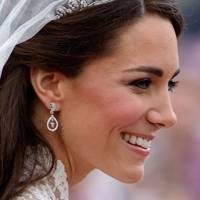 2011 - The Duchess of Cambridge wears the Cartier Halo Tiara for her wedding day