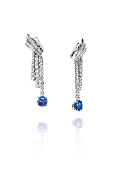 Sapphire and diamond earrings, POA, Adler