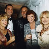 Edina Ronay, David Bachetti, Rod Weston, Cilla Black and Pat Booth