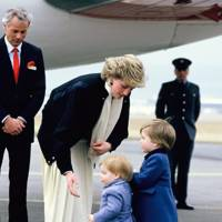 The Princess of Wales, Prince Harry and Prince William, 1986