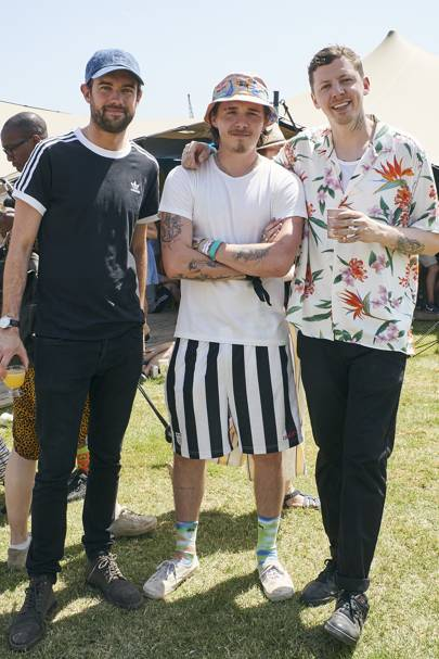 Jack Whitehall, Brooklyn Beckham and Professor Green
