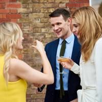 Joanne Froggatt, Matt Smith and Lily James