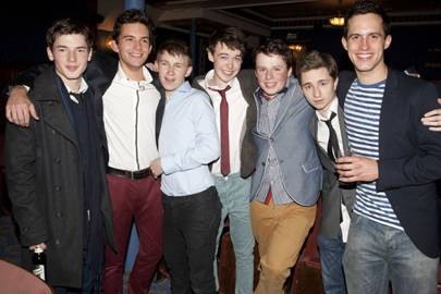 Tom Spink, Jonathan Bailey, Bradley Hall, Alex Lawther, Liam Morton, James Messer and Rob Heaps