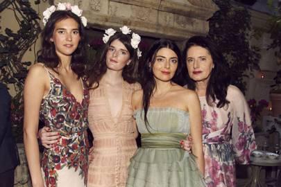Viola Arrivabene Gonzaga, Luna Bonaccorsi, Lucilla Bonaccorsi and Luisa Beccaria