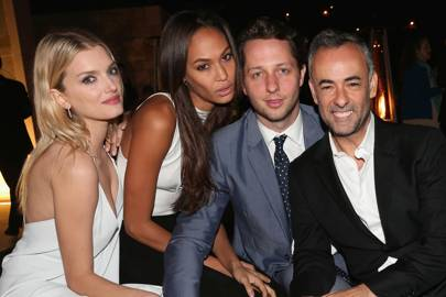 Lily Donaldson, Joan Smalls, Derek Blasberg and Francisco Costa