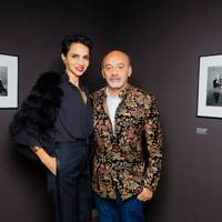 Farida Khlefa and Christian Louboutin