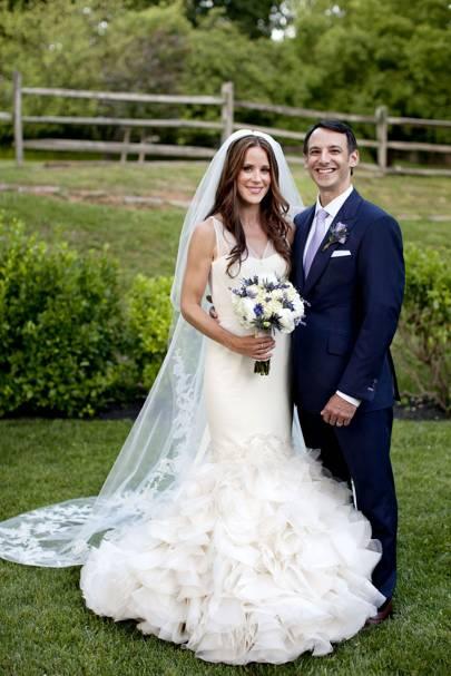 Ashley Biden y el Dr. Howard Kerin en el día de su boda en Wilimington, Delawere, en 2012.