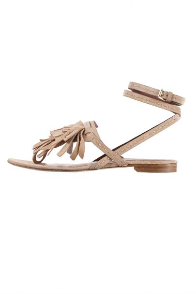 Suede sandals, £534, by Alberta Ferretti