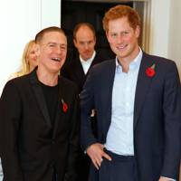 With Bryan Adams at the 'Wounded: The Legacy Of War' exhibition