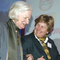 P D James and Sandi Toksvig