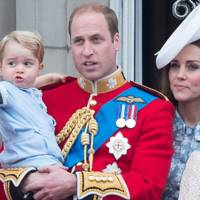 Prince George, the Duke of Cambridge and the Duchess of Cambridge