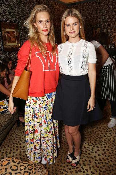 Poppy Delevingne and Alice Eve