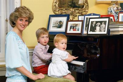 The Princess of Wales, Prince William and Prince Harry, 1985