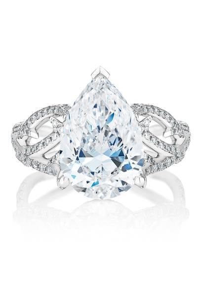 Diamond and platinum ring, POA, De Beers