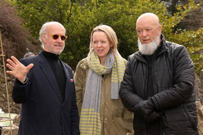Roger Saul, Emily Eavis and Michael Eavis