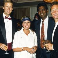 Peter Fleming, Mrs Tim Fletcher, Vijay Amritraj and Peter McNamara