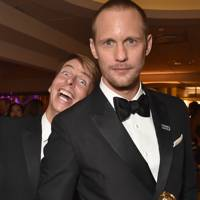 Jack McBrayer and Alexander Skarsgård