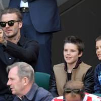 David Beckham, Cruz Beckham and Romeo Beckham