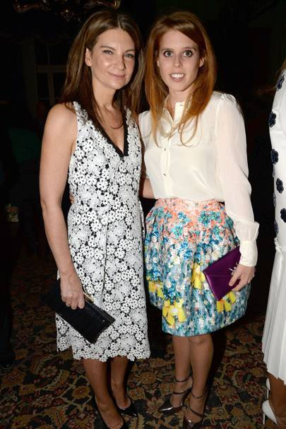 Princess Beatrice and Natalie Massenet
