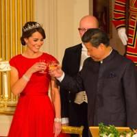 The Duchess of Cambridge and Xi Jinping
