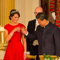 The Duchess of Cambridge and Xi Jinping