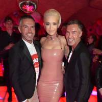 Dean Caten, Rita Ora and Dan Caten, 2015