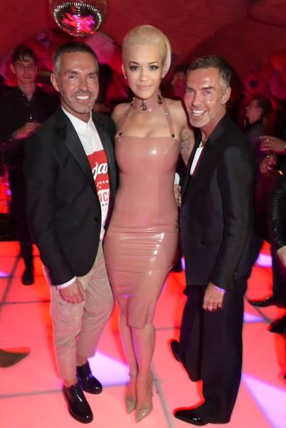 Dean Caten, Rita Ora and Dan Caten, 2015