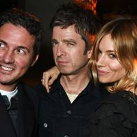 Dave Gardner, Noel Gallagher and Sienna Miller