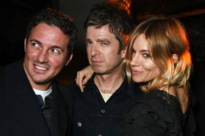 Dave Gardner, Noel Gallagher and Sienna Miller