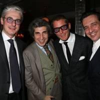 Andrea Tessitore, Gene Krell, Lapo Elkann and Luca Stoppini