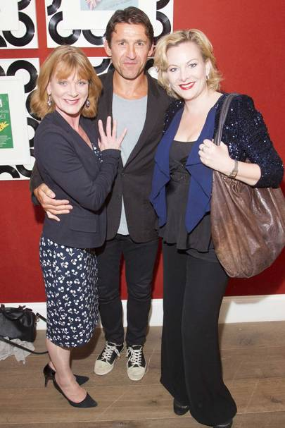 Samantha Bond, Jonathan King and Sara Stewart