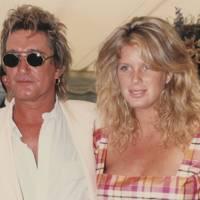 Rod Stewart and Rachel Hunter