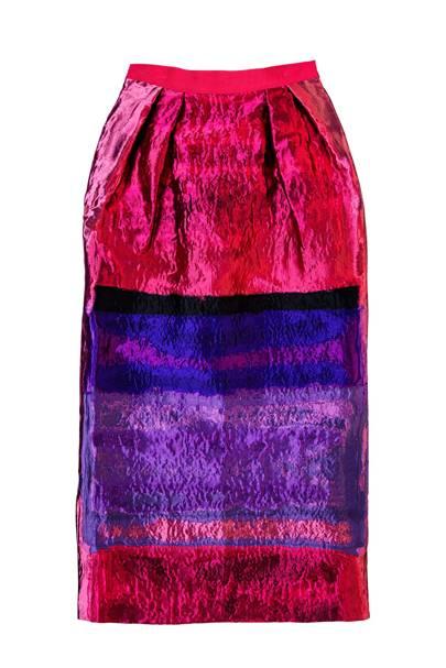 Jacquard skirt, £430, by Alberta Feretti