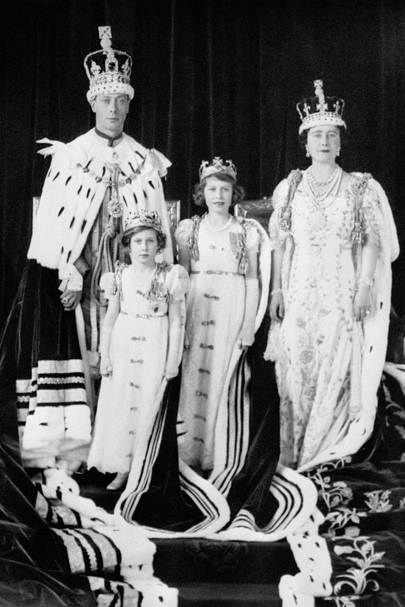 1937: At the Coronation of her father as King George VI
