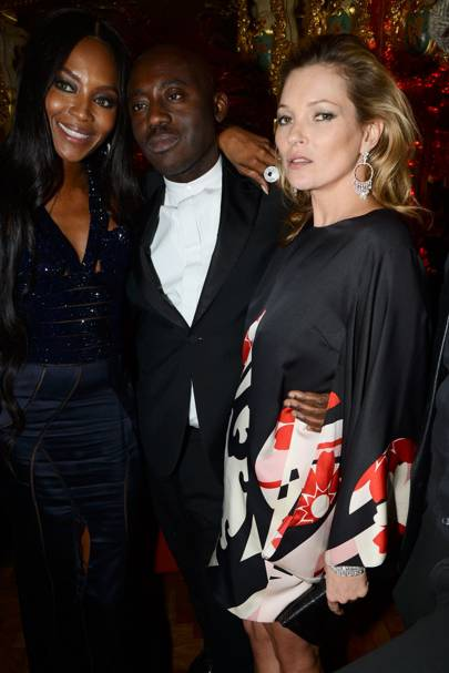 Naomi Campbell, Edward Enninful and Kate Moss