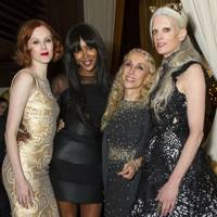 Karen Elson, Naomi Campbell, Franca Sozzani and Kristen McMenamy