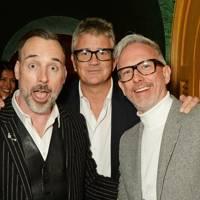 David Furnish, Jay Jopling and Patrick Cox