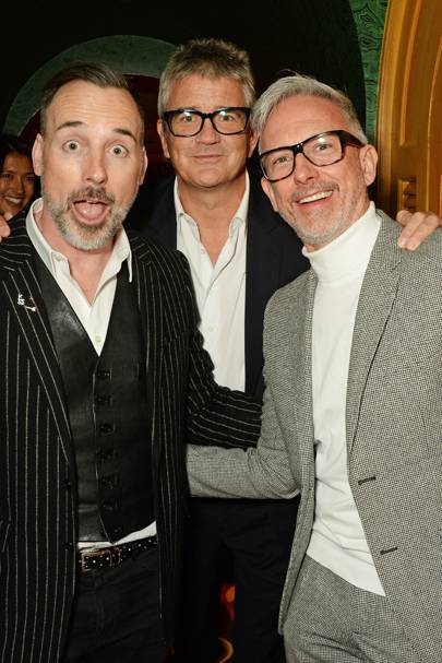 David Furnish, Jay Jopling and Patrick Cox