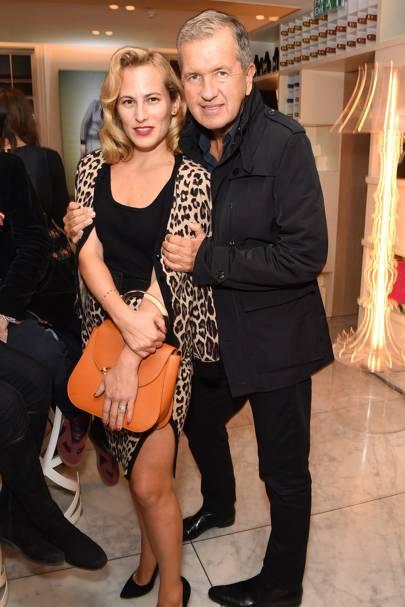 Charlotte Dellal and Mario Testino