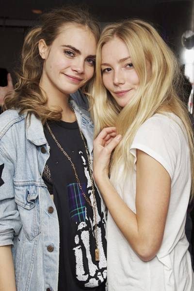Cara Delevingne and Clara Paget