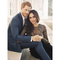 Prince Harry and Meghan Markle's engagement portrait, 2017
