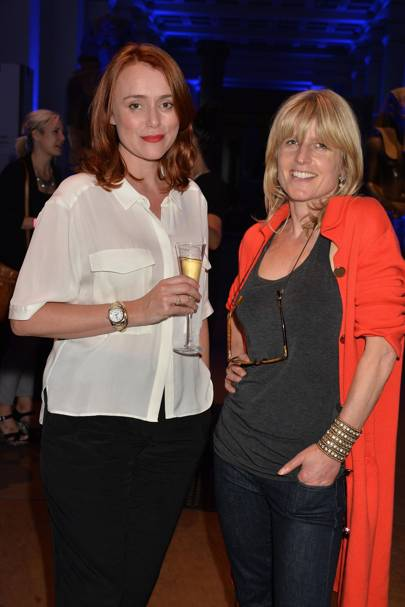Keeley Hawes and Rachel Johnson