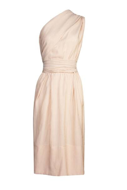 Silk dress, £1,830, by Hermes