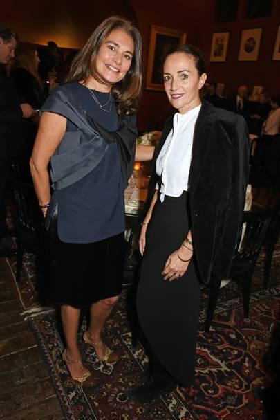 Averyl Oates and Daniela Agnelli