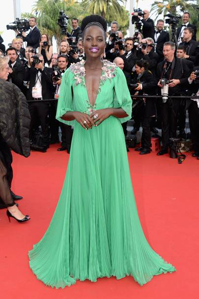 Lupita Nyong'o wearing Gucci in 2015