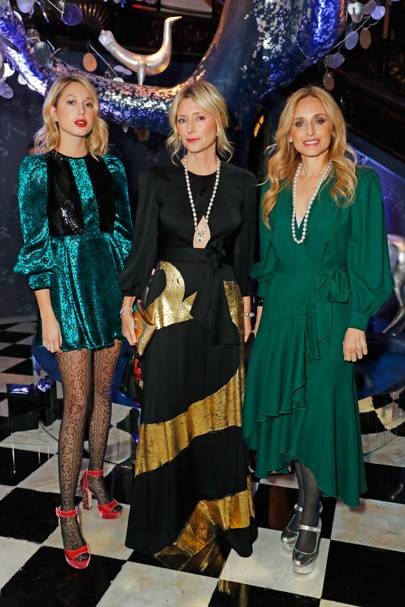 Princess Maria-Olympia of Greece and Denmark, Marie-Chantal, Crown Princess of Greece and Pia Getty