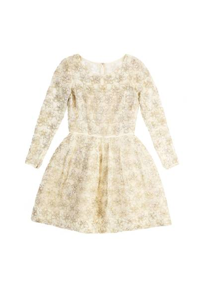 Silk-organza dress, £3,945, by Oscar de la Renta