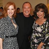Jessica Chastain, Michael Kors and Dame Joan Collins