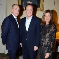 Dylan Jones, David Cameron and Natalie Massenet
